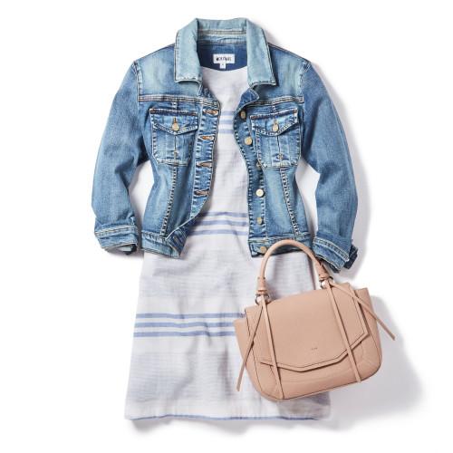 Denim Jacket + Linen Dress